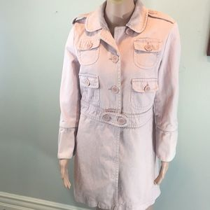 Marc Jacobs pink twill coat, Sz. L
